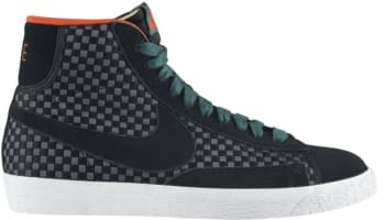 Nike Blazer Mid Woven Black/Black-Gorge Green-Team Orange