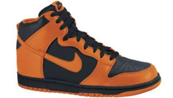 Nike Dunk High Black/Safety Orange