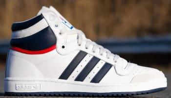 adidas Originals Top Ten Hi Running White/College Navy-Red