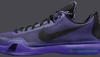 Nike Kobe X Black/Black-Persian Violet-Volt