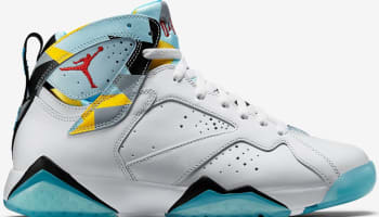 Air Jordan 7 Retro N7 White/Dark Turquoise-Black-Ice Cube Blue