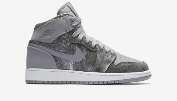 Air Jordan 1 Retro High GS 'All Star' Wolf Grey/Metallic Silver-White