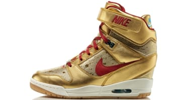Nike Air Revolution Sky Hi BHM Women's Metallic Gold/Deep Cardinal-Gamma Blue