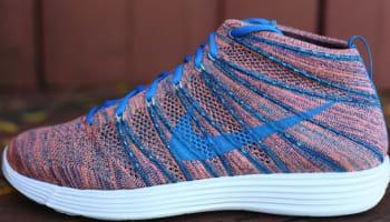 Nike Lunar Flyknit Chukka Brave Blue/Photo Blue-Mineral Teal-Green Glow-Atomic Pink-Sail