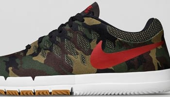 Nike Free SB Fortress Green/Gym Red-Black