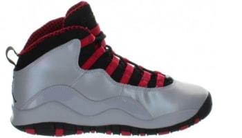 Air Jordan 10 Retro Girls Wolf Grey/Black-Legion Red
