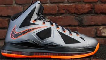 Nike LeBron X Lava Charcoal/Total Orange-Black