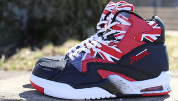 British Knights DRX Union Hi Black/White-Mars Red