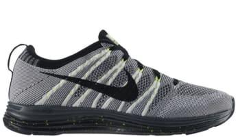 Nike Free Flyknit Lunar1 White/Black-Dark Grey-Volt