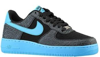 Nike Air Force 1 Low Black/Vivid Blue