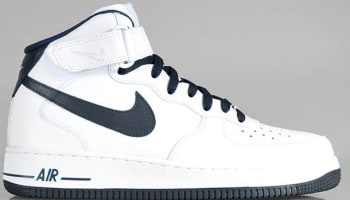 Nike Air Force 1 Mid White/Dark Obsidian