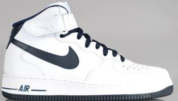 Nike Air Force 1 Mid White/Dark Obsidian