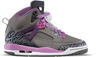 Girls Jordan Spiz'ike GS Cool Grey/Purple Earth