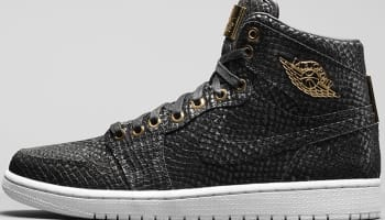 Air Jordan 1 Retro High OG Pinnacle Black/Black-Metallic Gold-White