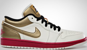 Air Jordan 1 Low Sail/Sport Fuschia-Metallic Gold-Black