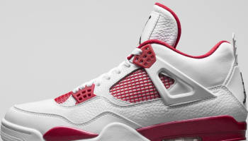 Air Jordan 4 Retro White/Black-Gym Red