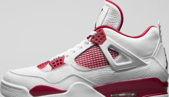 Air Jordan 4 Retro White/Black-Gym Red