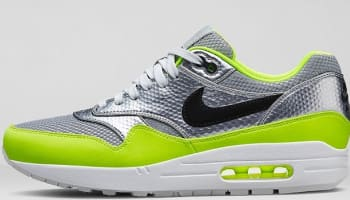 Nike Air Max 1 FB Premium QS Metallic Silver/Black-Volt