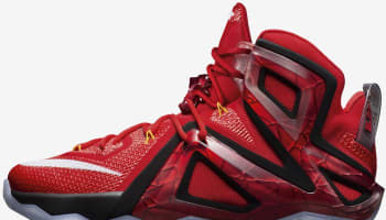 Nike LeBron 12 Elite University Red/Bright Citrus-Bright Crimson-White-Black
