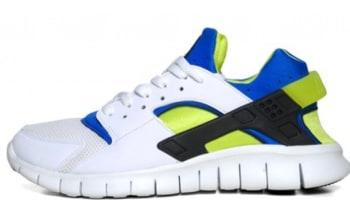 Nike Huarache Free Run 2012 White Soar-Cyber a51281d784