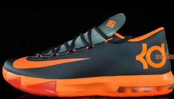 Nike KD VI Anthracite/Total Orange-Team Orange-Mica Green