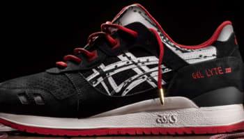 Asics Gel-Lyte III Black/Red-White