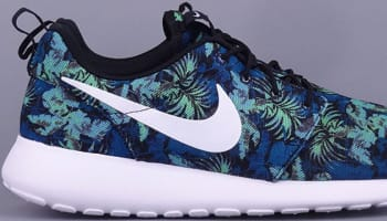 Nike Roshe Run Print Space Blue/White-Black-Poison Green