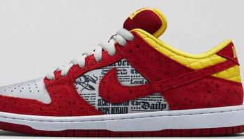 Nike Dunk Low Premium SB Action Red/Action Red-Metallic Silver