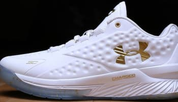 Under Armour Curry One Low MVP PE White/Metallic Gold