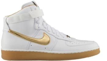Nike Air Force 1 Downtown Hi Premium White/Metallic Gold
