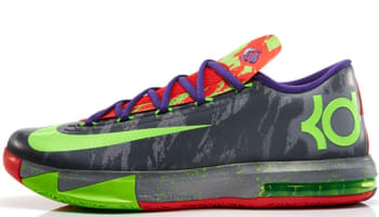 Nike KD VI Cool Grey/Electric Green-Light Crimson
