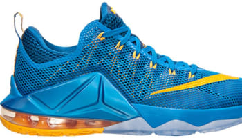 Nike LeBron 12 Low Photo Blue/University Gold-Gym Blue