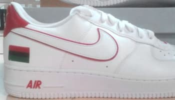 Nike Air Force 1 Low BHM White/White-University Red