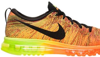 lowest price 206cb e3772 Nike Flyknit Max Total Orange Black-Volt-Fireberry