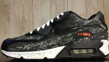 Nike Air Max '90 Premium Black/Black-Dark Charcoal-Orange Blaze