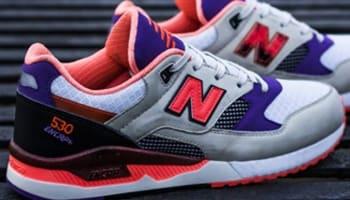 New Balance 530 White/Red-Purple-Black