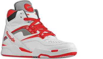 Reebok Twilight Zone Pump White/Reebok Red-Railroad Grey