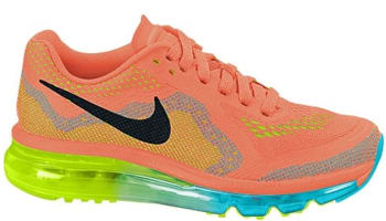 Nike Air Max 2014 Women's Atomic Orange/Black-Volt-Gamma Blue