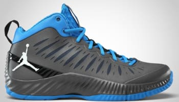 Jordan Super Fly Dark Grey/White-Photo Blue-Black