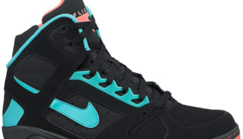 Nike Air Flight Lite High Black/Hyper Punch-Hyper Jade