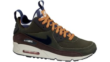 Nike Air Max '90 Sneakerboot Lagoon Green/Black-Baroque Brown-Brave Blue