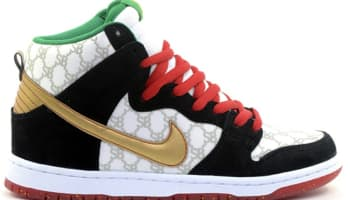 Nike Dunk High Premium SB White/Metallic Gold-Black