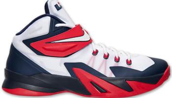 Nike Zoom Soldier VIII White/White-Obsidian-University Red