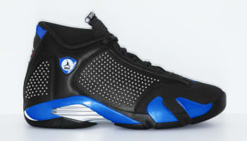 Supreme x Air Jordan 14 Black/Varsity Royal-Chrome