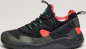 Nike Air Huarache Utility Premium Black/Bright Crimson