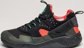 Nike Air Huarache Utility Premium Black/Bright Crimson