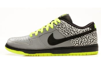 Nike Dunk Low Premium SB QS Metallic Silver/Black-Volt