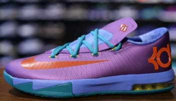 Nike KD VI GS Laser Purple/Team Orange-Sport Turquoise