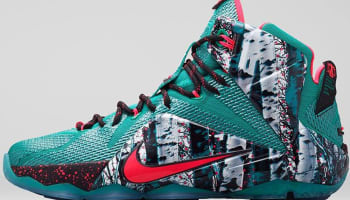 Nike LeBron 12 Emerald Green/Hyper Punch-Dark Emerald