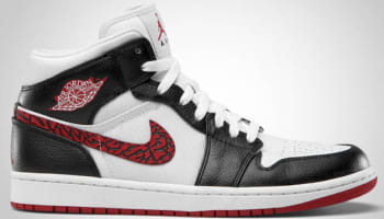 Air Jordan 1 Phat Mid White/Varsity Red-Black